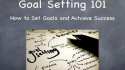 How to Set Simple Goals and