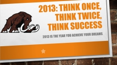 2013. Think once, think twice, think success