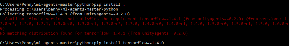 Setting up Tensorflow for Unity's ML-Agents – Holistic3d