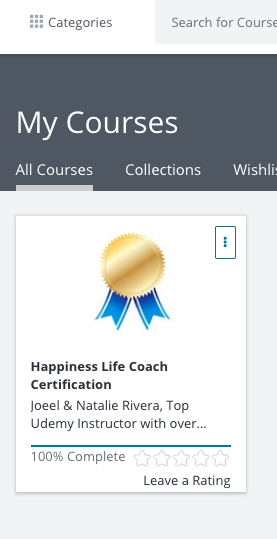 Happiness Life Coach Certification | Udemy