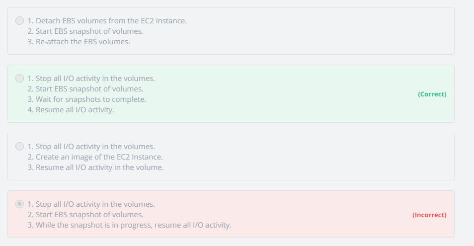 Take Snapshot of EBS volumes that are configured in a RAID