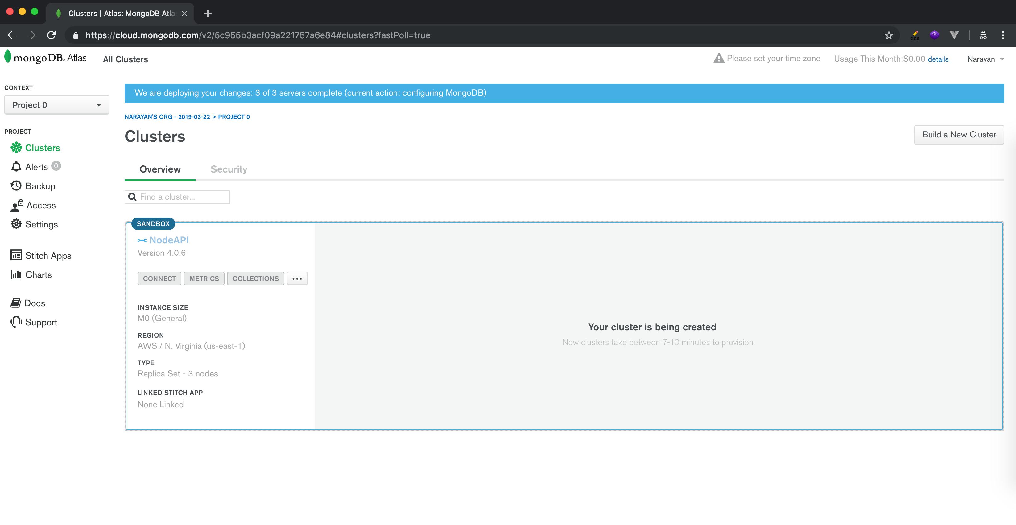 Kaloraat - How to use MongoDB Atlas?